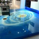 Store Resin floor - galaxy