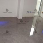 Living room resin floor