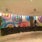 Resin wall coating reception