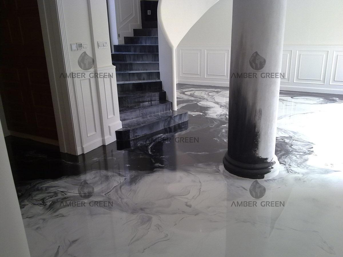 Настилка от смола – Хол и стълби