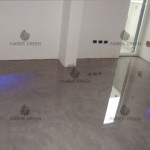 Living room resin floor